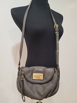 Marc By Marc Jacobs Standard Supply Gray Leather Flap Crossbody Handbag Purse