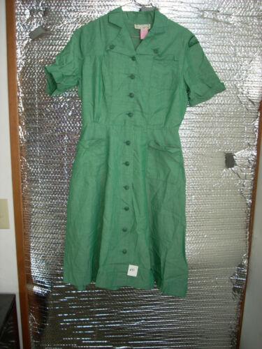 Vintage Intermediate Girl Scout Uniform Dress 1956-62 size about 10
