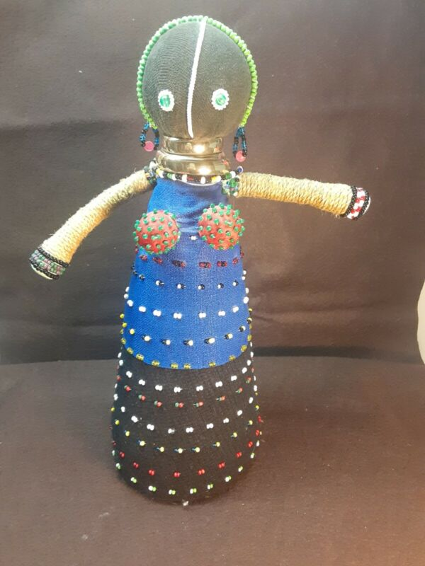 Unique Beaded Doll/doorstop. Free shipping