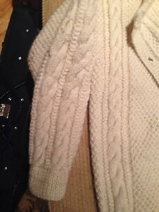 Irish cable knit wool sweater Peterborough Peterborough Area image 2
