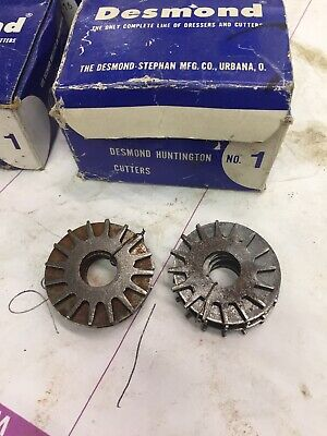 Blanchard Grinder Dresser Lot of 2 Desmond 26240 Steel Cutter Sets 5 per set