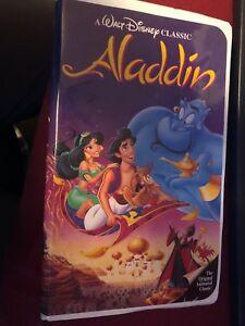Walt Disney Classic Aladdin Black diamond VHS#1662 edition