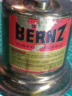 Minty Vintage Antique Otto Bernz Brass Solder Gas Blow Torch