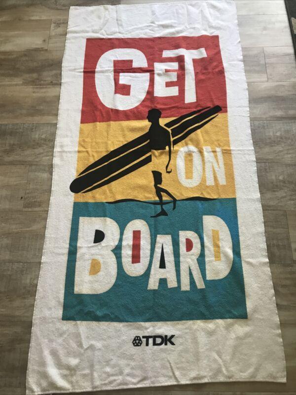 Vtg TDK Beach Towel. Made In USA. 80s-90s