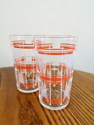 Vintage Cocktail Glasses. x 2. Mid Century. Gin Glasses. Art Deco. Retro. Home B