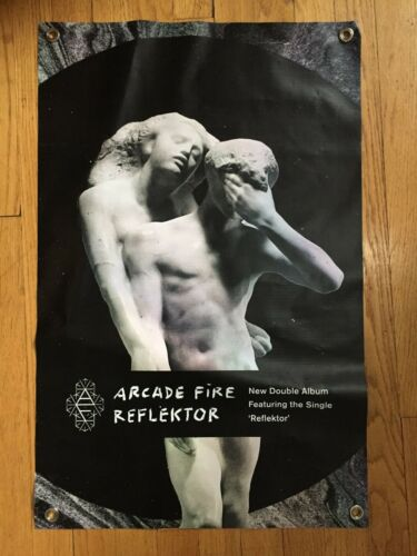 Arcade Fire promotional vinyl banner poster double sided18x28 Reflektor official