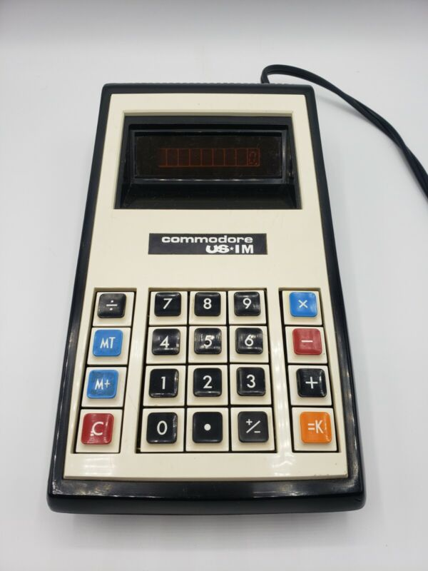 Vintage Commodore US 1M Desk Calculator Very Good Condition Tested Works