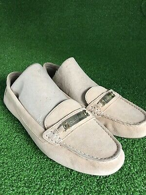 Calvin Klein 8.5 Tan Suede Womens Lunasi Slip-on Loafers SZ 8.5 Excellent