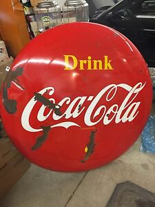 4 foot Coca Cola button 306-717-9678
