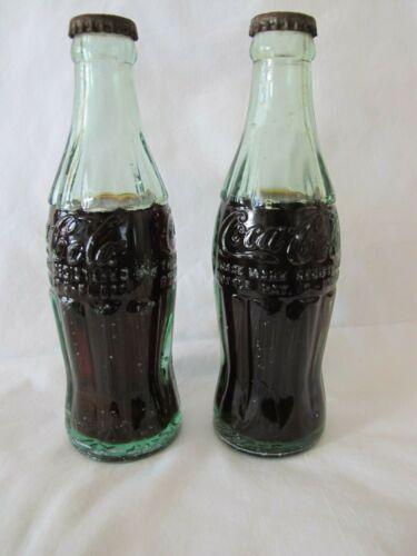 2- Vintage 1940,s unopened Coke Bottles 6 oz. Los Angelas Calif.