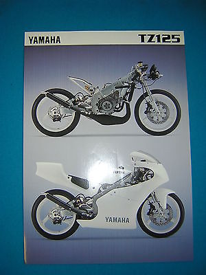 Yamaha TZ125 1996 Specification Sheet. Printed by Yamaha UK. New