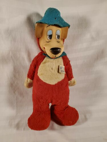Vtg Knickerbocker 1959 Rubber Face & Hands Doll Huckleberry Hound Stuffed Plush