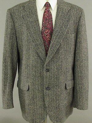 Harris Tweed Wool Blazer Herringbone 48R Two Button Sport Coat Jacket