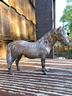Silver Plated Heavy Metal Horse & Two Horse Bookend with many Dents -  Estate