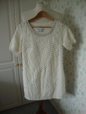 LADIES WOMENS JOVONNA LONDON DRESS SIZE 12 PARTY COCKTAIL CREAM FULLY LINED