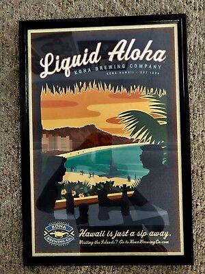 Kona Brewing Company Liquid Aloha Framed Poster