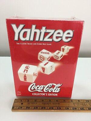 Yahtzee Christmas Coca Cola Board Game Dice Coke Xmas Car Travel Size Sealed NIB
