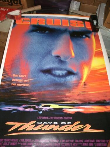 DAYS OF THUNDER  Original Movie House Full Sheet Poster unused 27x40 Mint-.