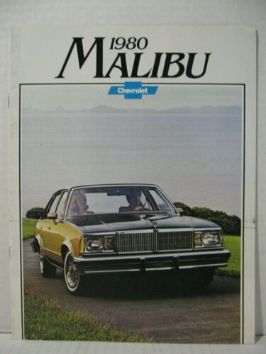 1980 Chevrolet Malibu Car Dealer Sales Brochure Catalog