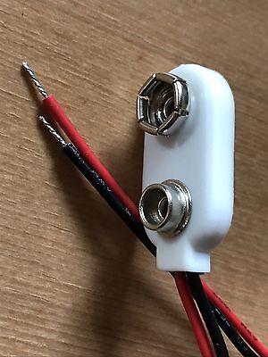 9 Volt Clip für 9V Block Batterie Batterieclip Adapter Druckknopf Anschluss 9V-I