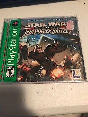 Star Wars Episode I Jedi Power Battles Sony PlayStation 1 Greatest hits Tested