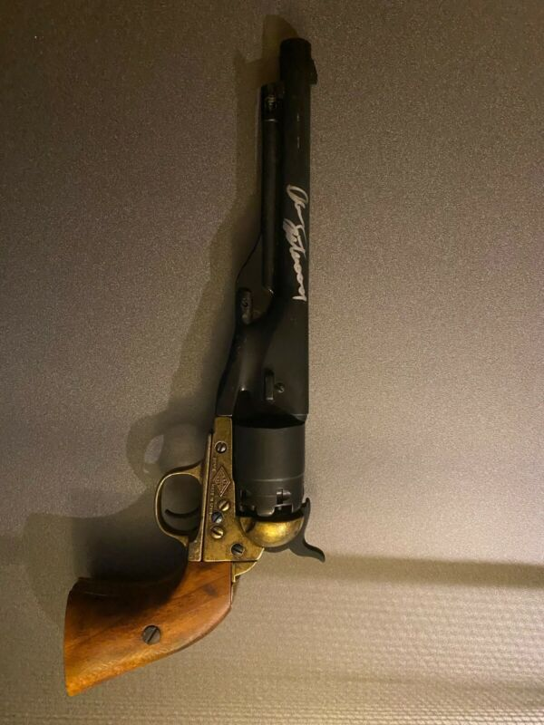 CLINT EASTWOOD SIGNED PROP REPLICA GUN JSA CERTIFIED