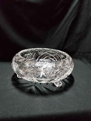 Gorgeous 3 footed Crystal Bowl/Candy Dish 3 Footed Candy