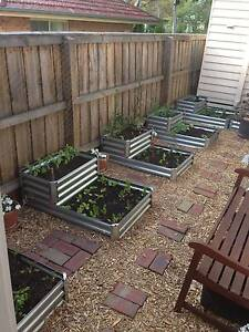 6 as new metal garden beds, potting mix, herb, citrus and veges Blackburn Whitehorse Area Preview