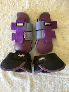 Roma Tendon  Jump Boots & Scallop Bell Boots - Purple -Size: Pony