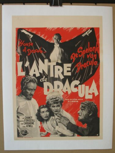 HOUSE OF DRACULA (1945) Original Belgian Poster On Linen, Chaney Jr, Universal