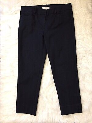 Ann Taylor LOFT Marisa The Riviera Pant Black Skinny Ankle Pants Womens Size 10