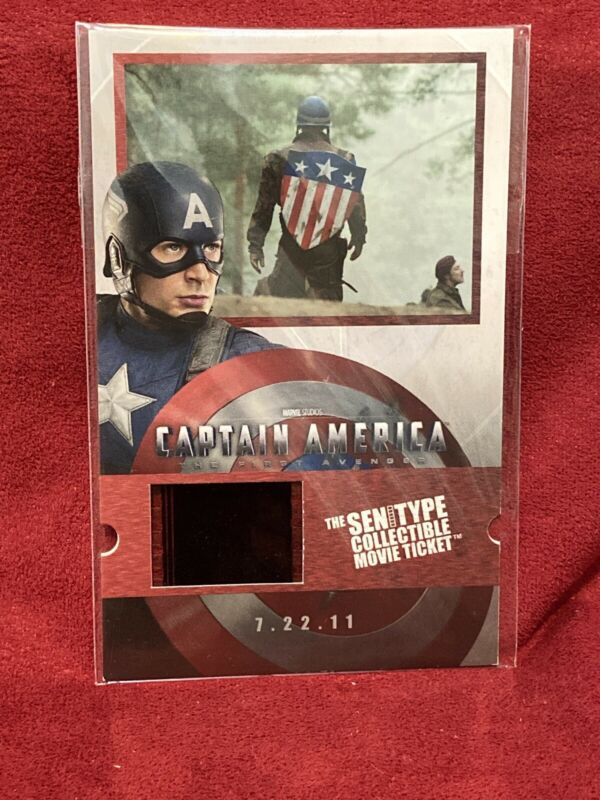 2010 Captain America First Avenger Film Cell SenitypeTicket Numbered RARE!!