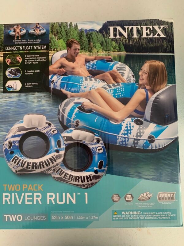 INTEX River Run 2 PACK Lounge Inflatable Floating Water Tube. FAST SHIP.