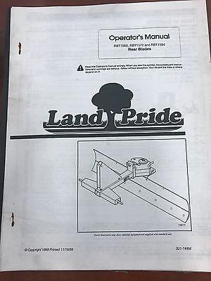 Landpride Owners Manual Rbt1560 Rtb1572 Rtb1584 Rear Blades Used301-144m