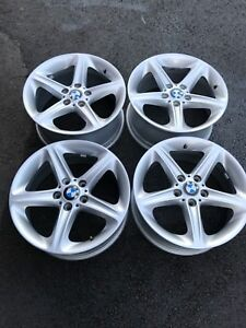 "Bmw OEM rims 18"" staggered setup"