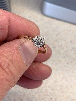 Vintage 18ct Gold Diamond Ring Size N1/2 B/Ham 1994
