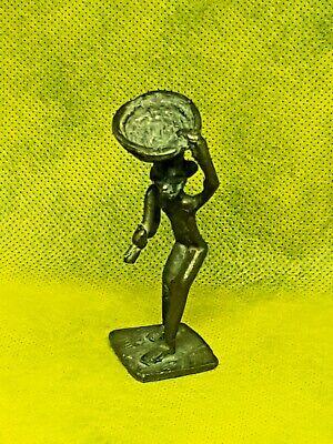 Antique AFRICAN BRONZE Brass AKAN Ashanti GOLD WEIGHT Figure