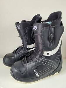 Burton Mint Black Women Snowboard Boots Size 8 Speed Zone Lacing Syste