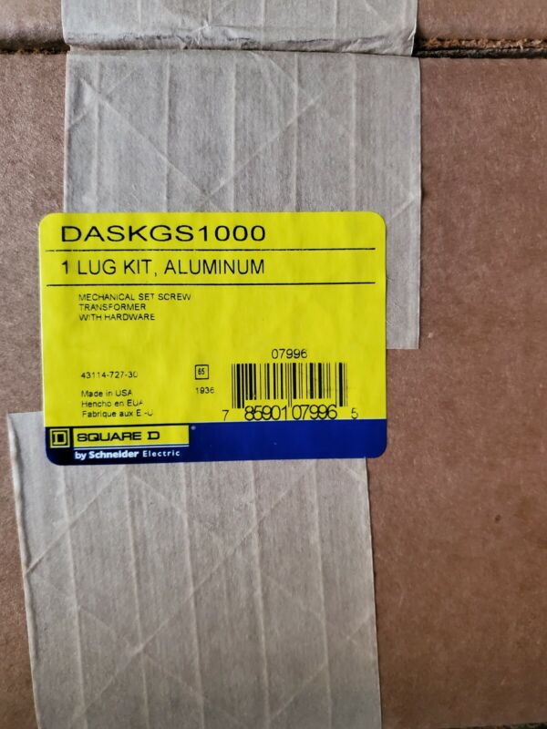 DASKGS1000 Aluminum Square D Transformer Lug Kit NEW Sealed Box