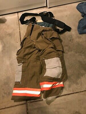 Brand New Janesville Fire Turnout Bunker Gear Pants 34r With Suspenders