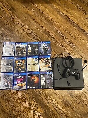 Sony PlayStation 4 (PS4) Pro 1 TB Black Console w/ Controller And 12 Games