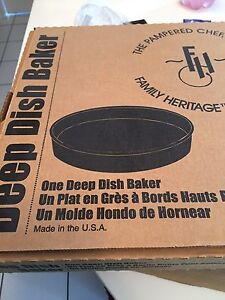New Pampered Chef deep dish baker