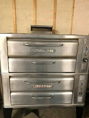 Blodgett 981 Natural Gas Deck Gas Double Pizza Oven With Brand New Stones