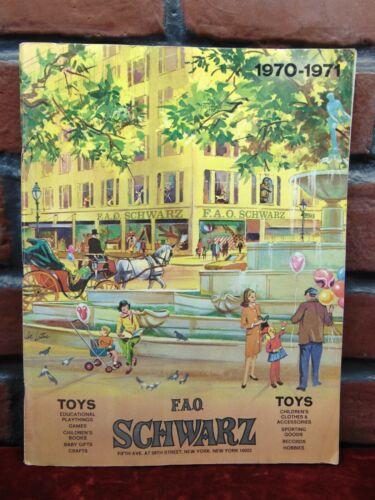 Vintage F.A.O. SCHWARTZ 1970-71 Toy Catalog Dolls Bears Figures Robots Playskool
