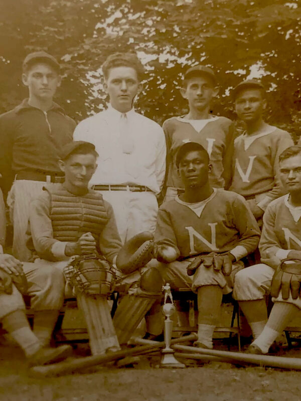 """1920's~ Integrated """"Baseball"""" Team With 2 African Americans~ Original Real Photo"""