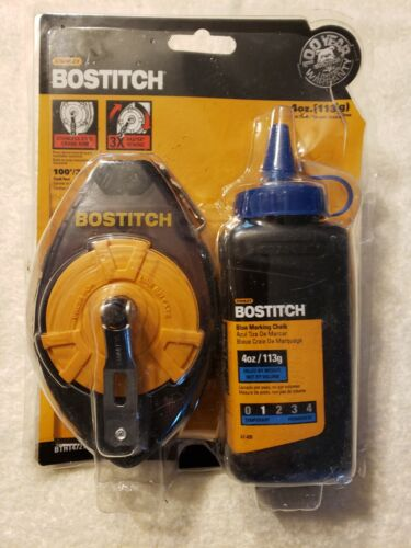 BOSTITCH  Reel Single and Kit with 4oz Chalk, Blue