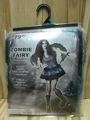 Womens XL (14-16) Zombie Fairy 3 Piece Halloween