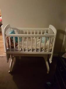 Baby White wooden cradle Albany Albany Area Preview