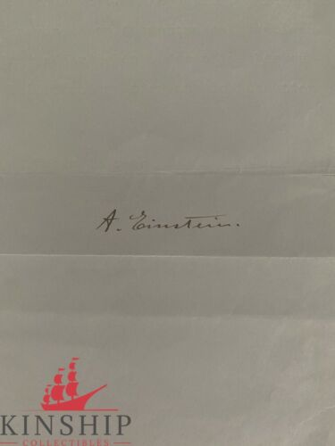 Albert Einstein signed Stationary JSA LOA Bold Auto Rare d.1955 Investment Z443