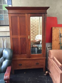 Antique Wooden wardrobe with key  Forestville Unley Area Preview
